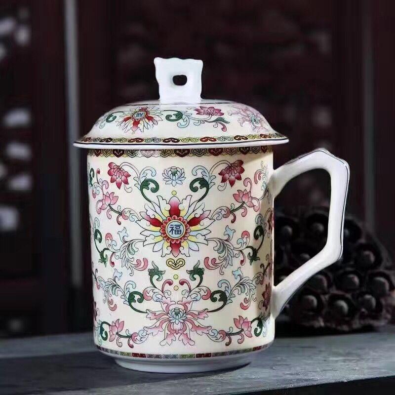 家用主人杯 纯白定制logo 商务礼品茶杯 陶瓷定制