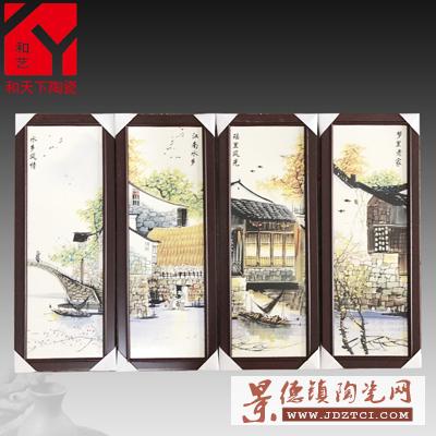 景德镇瓷板画厂家 瓷板画公司 陶瓷壁画定制 陶瓷电视背景墙定做