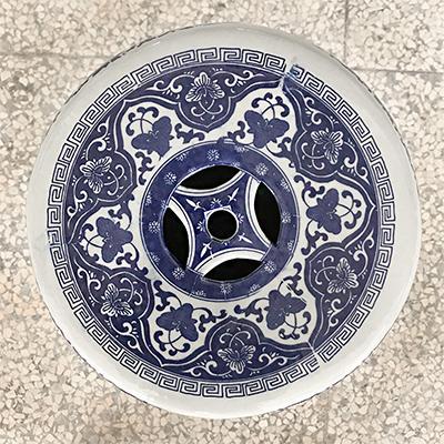 陶瓷手绘青花瓷换鞋凳鼓凳梳妆凳子新中式仿古鼓墩坐墩矮凳圆凳