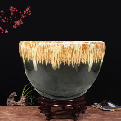 景德镇陶瓷鱼缸养金鱼缸乌龟缸睡莲盆荷花缸客厅特大号鱼缸碗莲缸