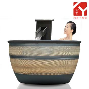 1.2米陶瓷泡澡缸1.2米大缸浴场专用韩式挂汤缸
