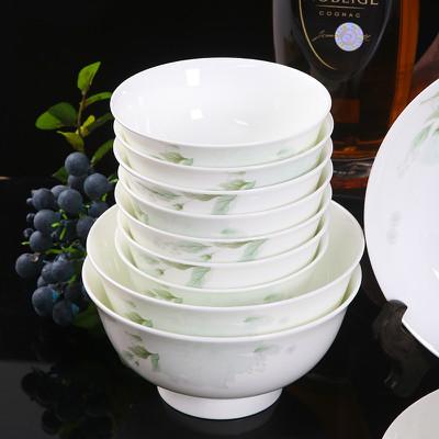 碗碟套装家用景德镇陶瓷器餐具套装骨瓷碗盘欧式中式套碗筷子组合