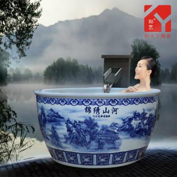 景德镇做的陶瓷大缸