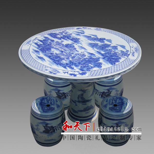 景德镇生产陶瓷1米桌凳厂家