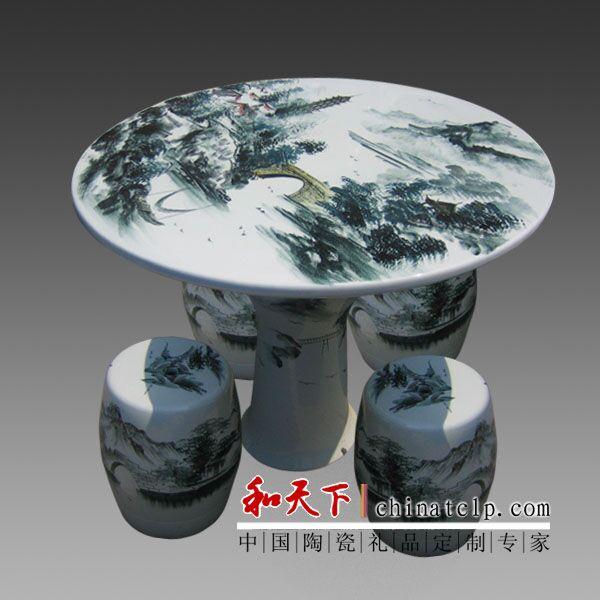 新中式陶瓷鼓凳欧式瓷墩圆鼓墩古筝凳矮凳圆凳绣墩鼓桌凳陶瓷凳子