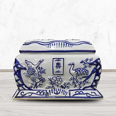 骨灰盒玉石水晶高档男用女用陶瓷寿盒棺材殡葬用品