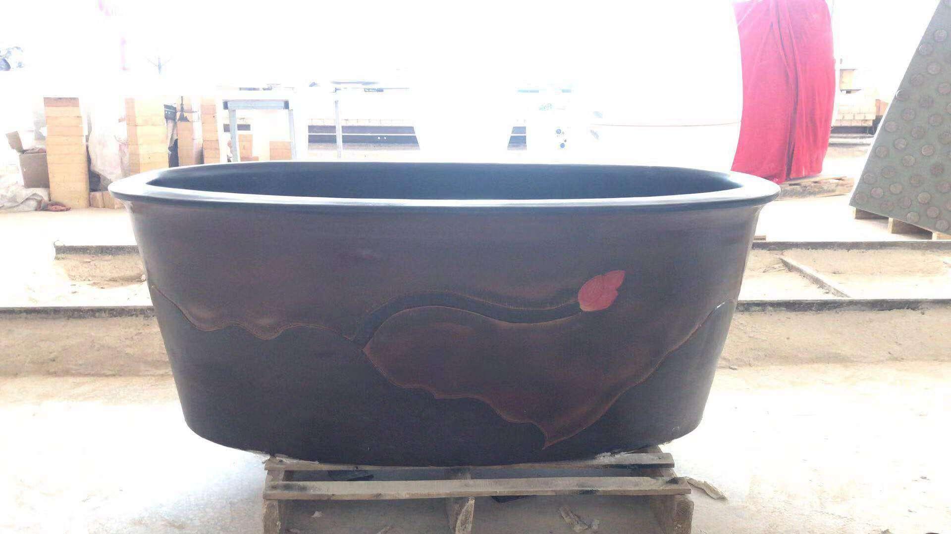 陶瓷浴缸生产厂家家用定制椭圆方形泡澡缸家用定制