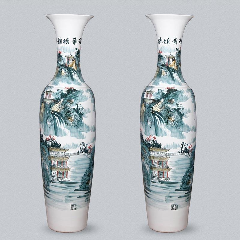 落地陶瓷大花瓶开业礼品