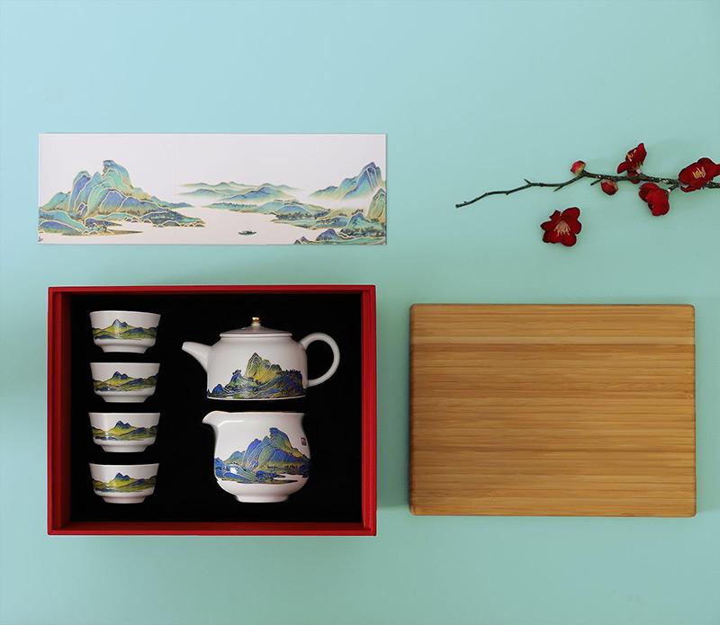 文创礼品茶具伴手礼,茶园文化企业礼品个人杯馈赠