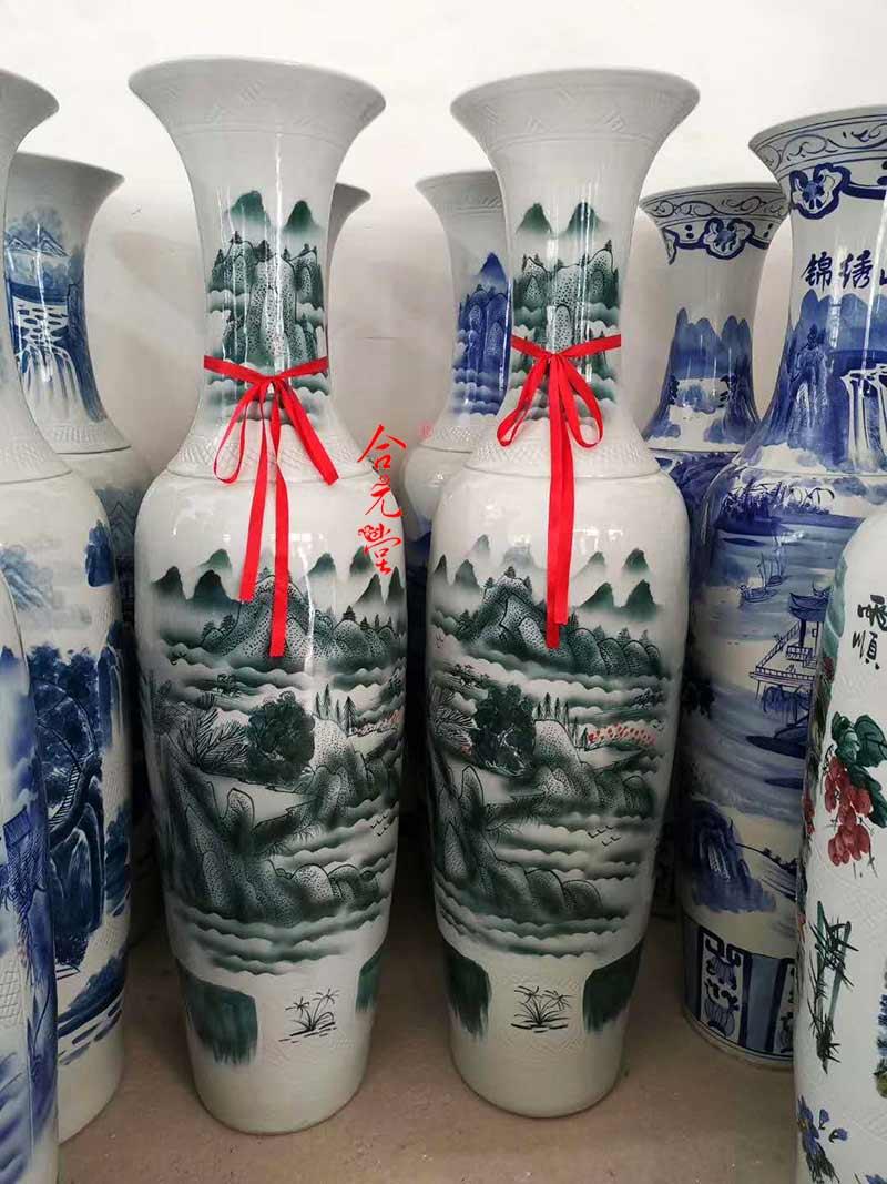 景德镇落地陶瓷大花瓶礼品