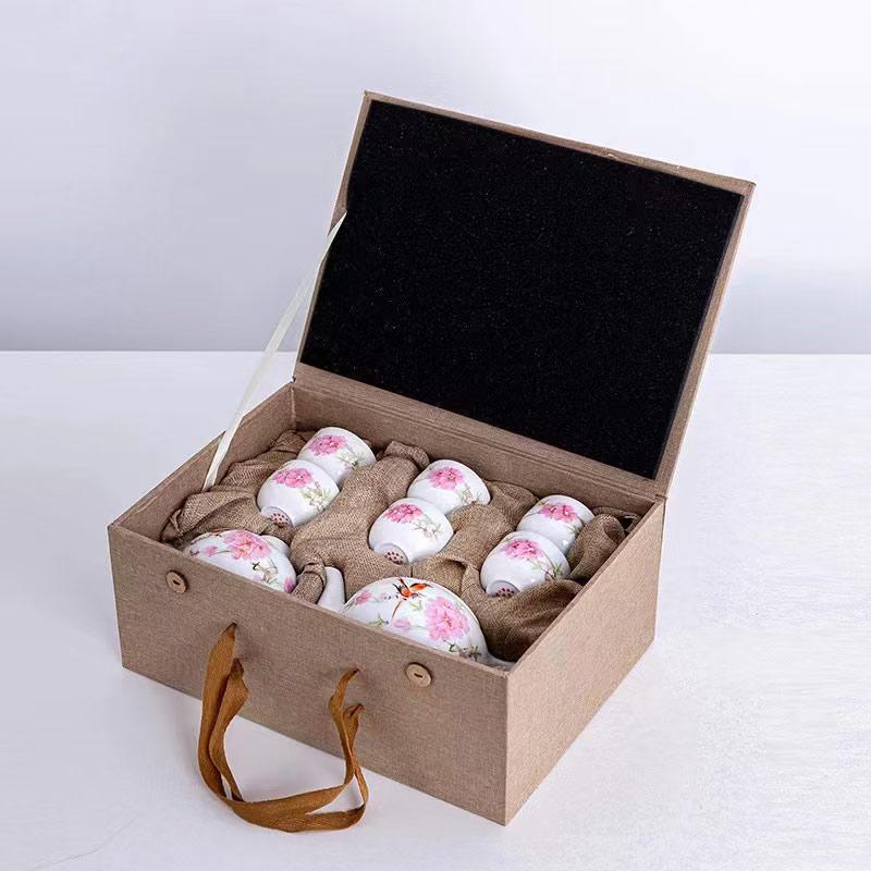 企业答谢客户礼品茶具定制加印公司LOGO图案赠言