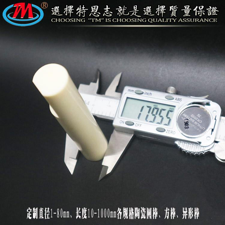 耐磨 耐腐蚀 氧化铝陶瓷柱塞 无锡陶瓷柱塞厂家定制
