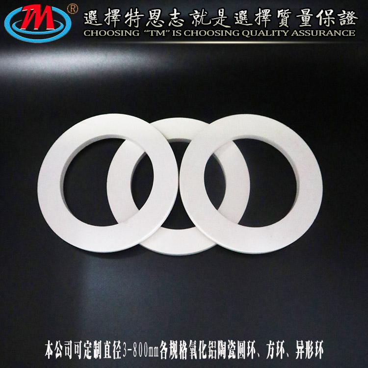 特恩志 干压成型 耐磨陶瓷环 宜兴耐磨陶瓷衬板厂家直销