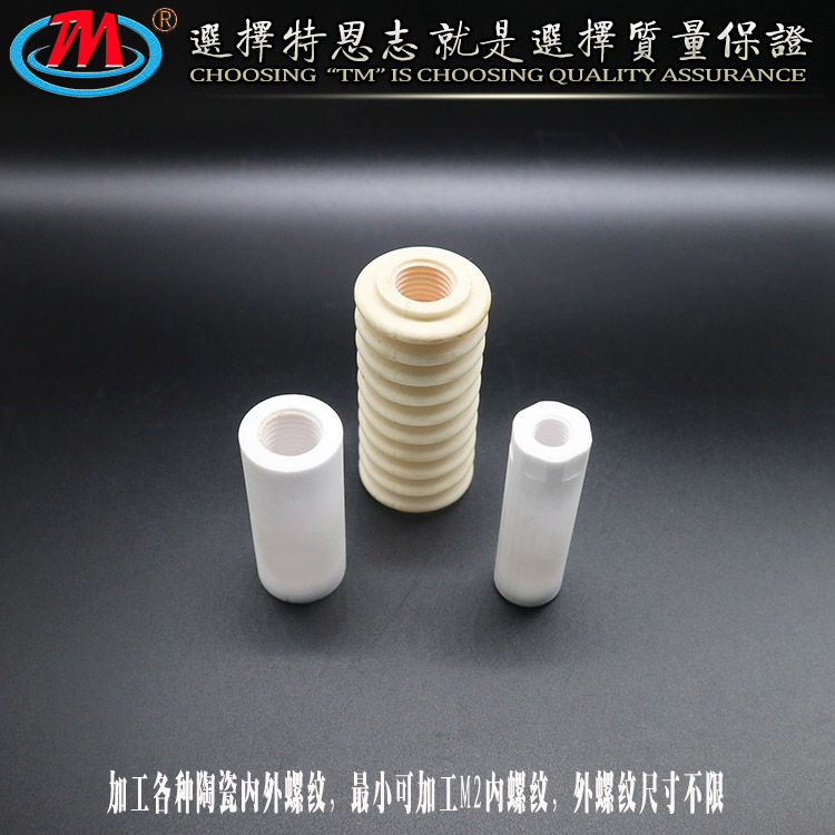 特恩志 可非标定制 耐高温绝缘 陶瓷螺纹加工