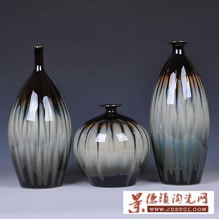 陶瓷器花瓶三件套
