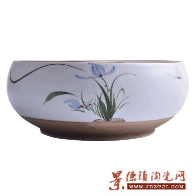 青花瓷鱼缸聚宝盆养龟盆荷花客厅收藏花盆