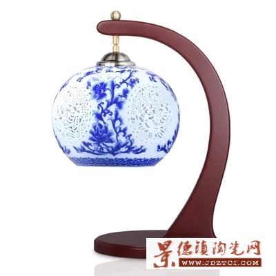 现代中式陶瓷台灯客厅装饰台灯