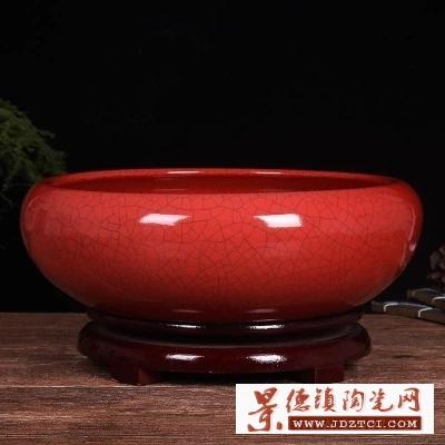 聚宝盆景德镇陶瓷鱼缸