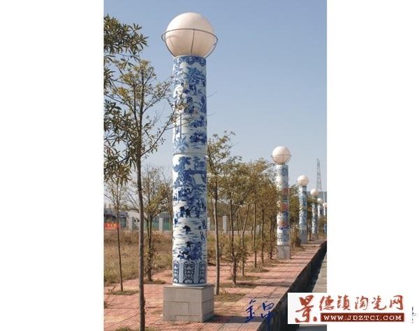 家用别墅花园户外庭院灯可定做陶瓷灯柱陶瓷景观灯柱