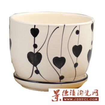 景德镇定制北欧个性手工陶瓷花盆彩色创意简约桌面植物盆栽花钵