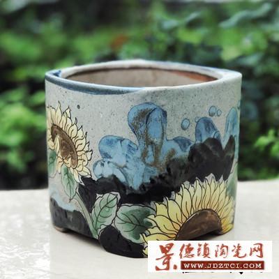 陶瓷土培容器创意简约个性植物器皿桌面绿萝多肉铜钱草兰花盆花钵