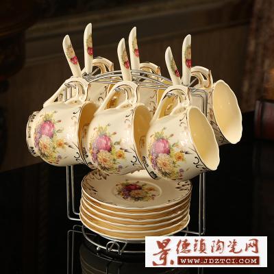 陶瓷咖啡杯套装,精品高端咖啡具咖啡杯,家居咖啡杯