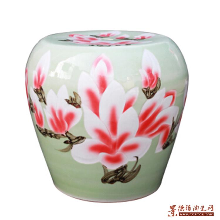 粉彩陶瓷瓷桌子凳子套装