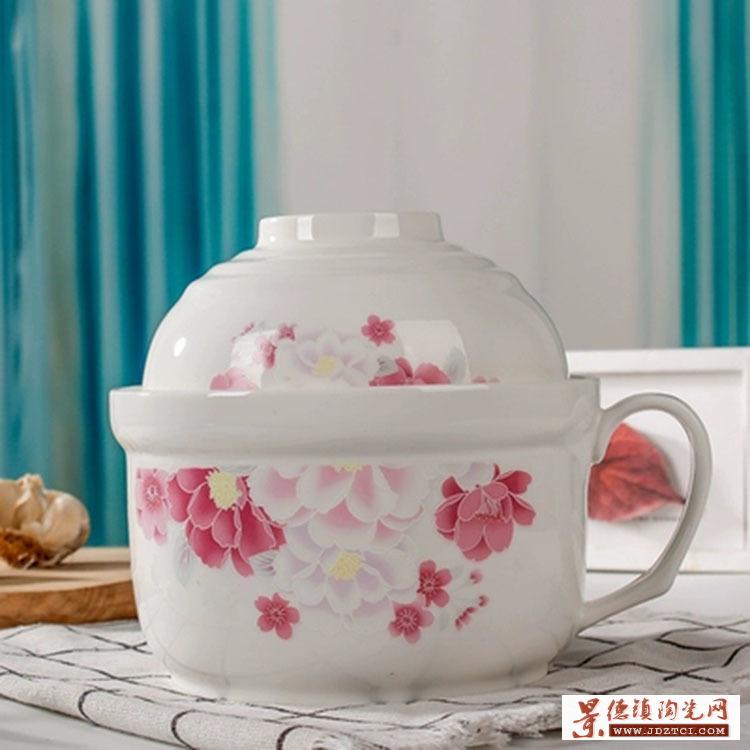 保鲜碗陶瓷大号米饭碗保鲜碗密封饭盒可微波炉保温碗泡面碗