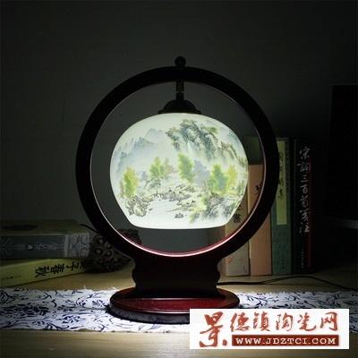 中国风暖光灯饰结婚陶瓷台灯卧室床头灯