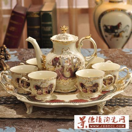 高温烧制陶瓷咖啡具供应