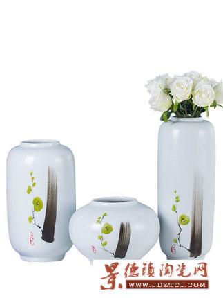 陶瓷创意花瓶三件套客厅插花摆件工艺品欧式台面花艺套装礼品