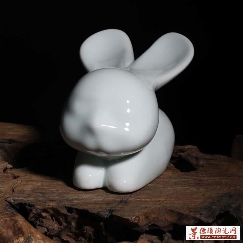 景德镇兔子摆件批发定制