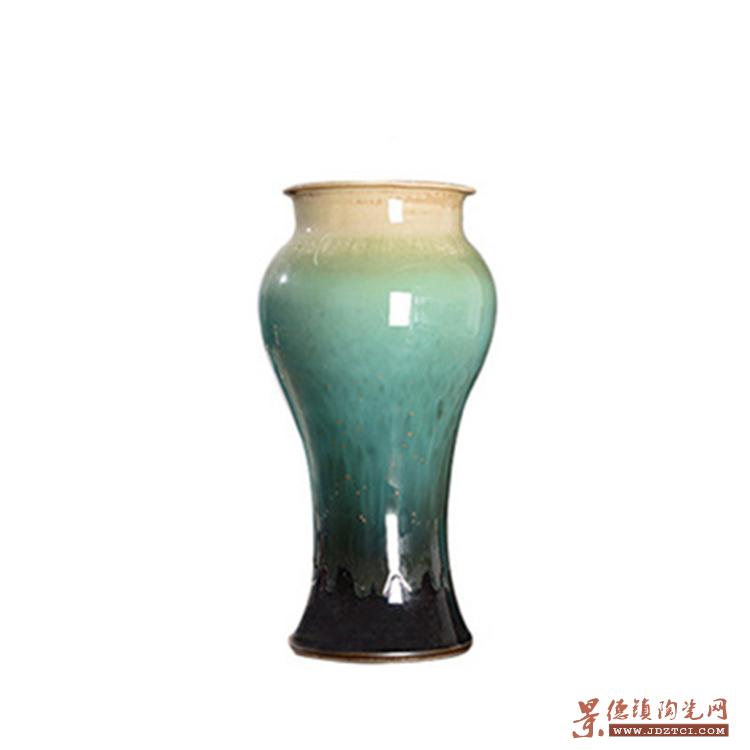 落地陶瓷花瓶干花颜色釉窑变插花现代欧式客厅酒店摆件
