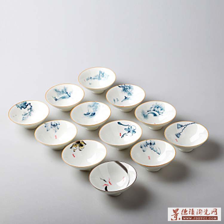 中国水墨风家用简约整套功夫茶具