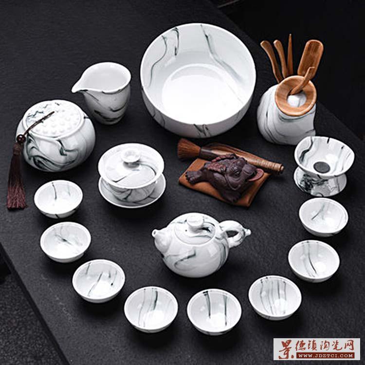茶具套装办公家用简约中式功夫茶具套组