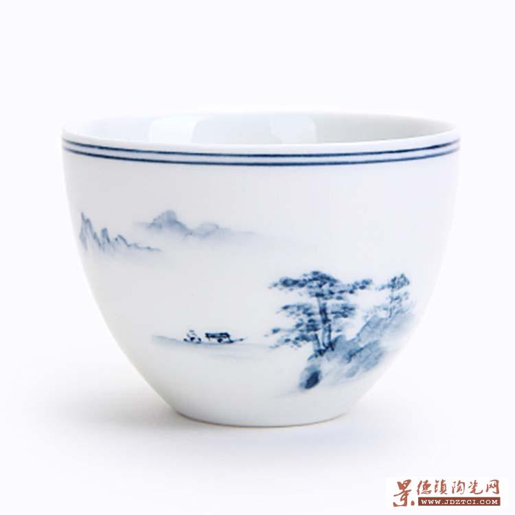 功夫茶具茶杯陶瓷品茗杯