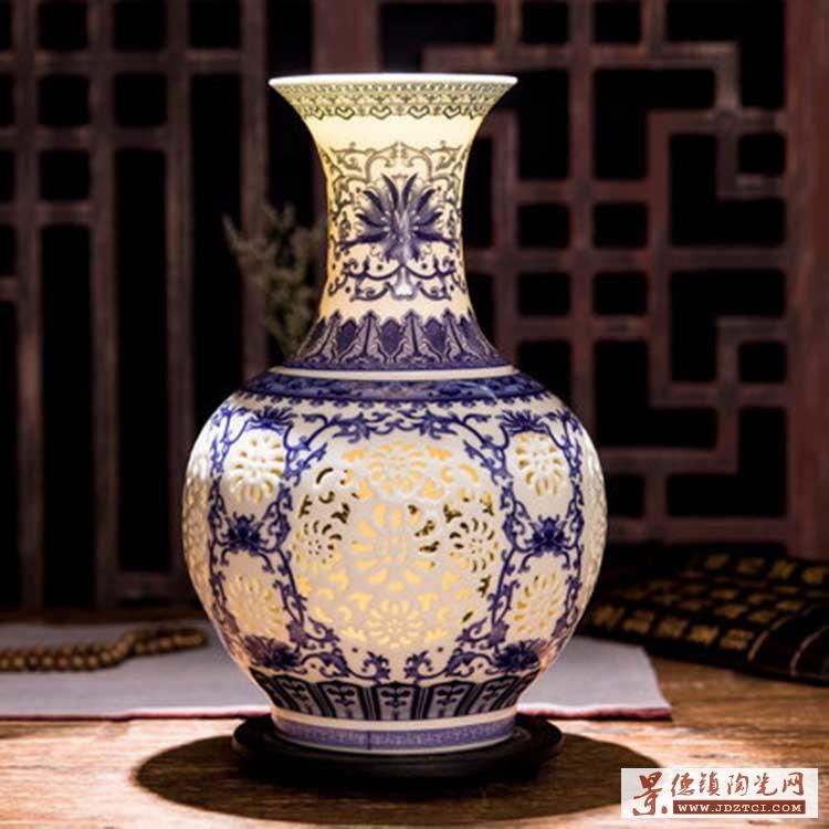 陶瓷花瓶花插