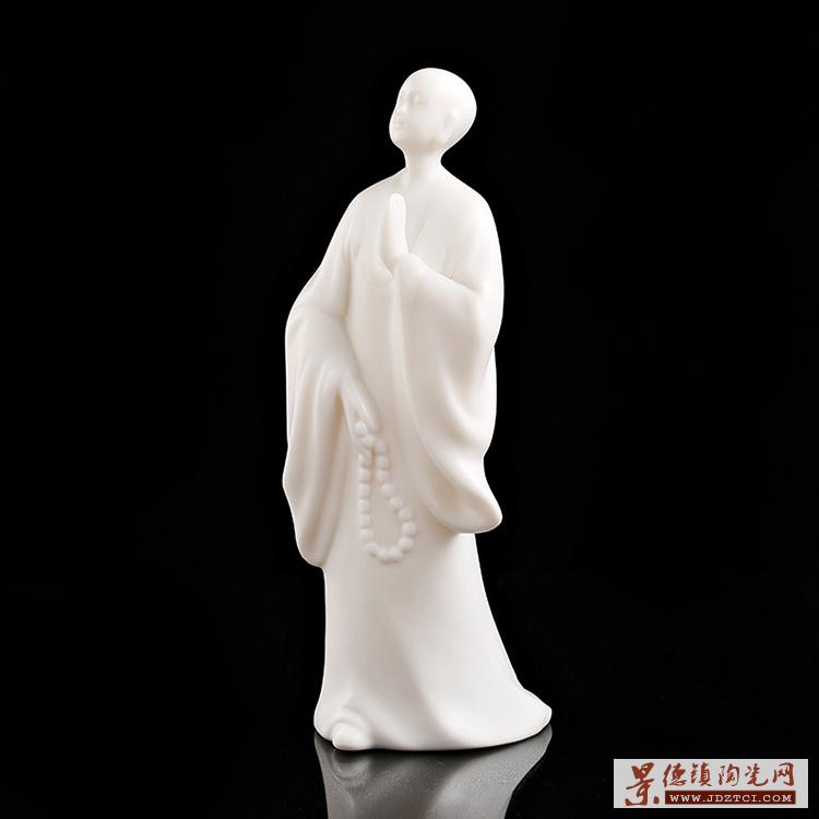 景德镇雕塑陶瓷净瓶观音摆件