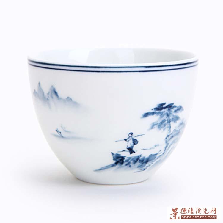 手绘小茶杯陶瓷主人杯