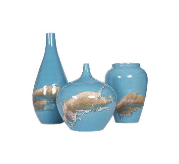 景德镇花瓶客厅陶瓷摆件花器禅意日式复古插花水培花盆家居装饰品