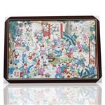 景德镇陶瓷瓷板画手绘百子图陶瓷装饰画挂画挂屏客厅装饰画玄关画