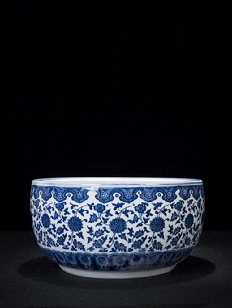 景德镇陶瓷冰裂纹釉开片鱼缸