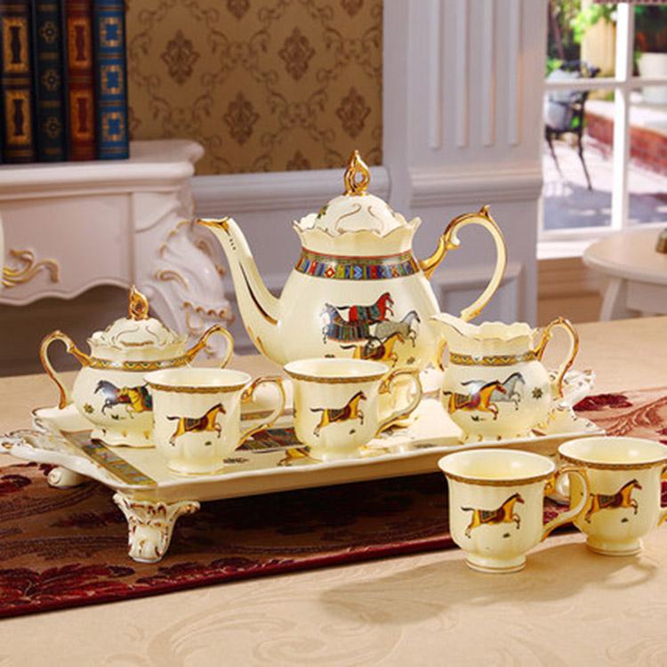 骨瓷咖啡杯套装欧式小奢华陶瓷杯英式优雅家用创意客厅下午茶茶具