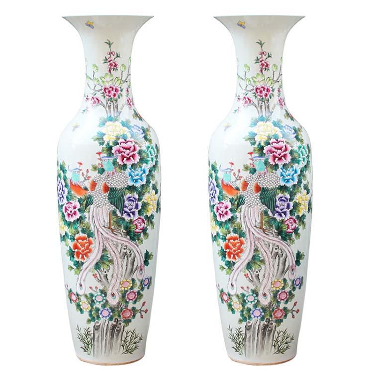 景德镇粉彩陶瓷器大花瓶