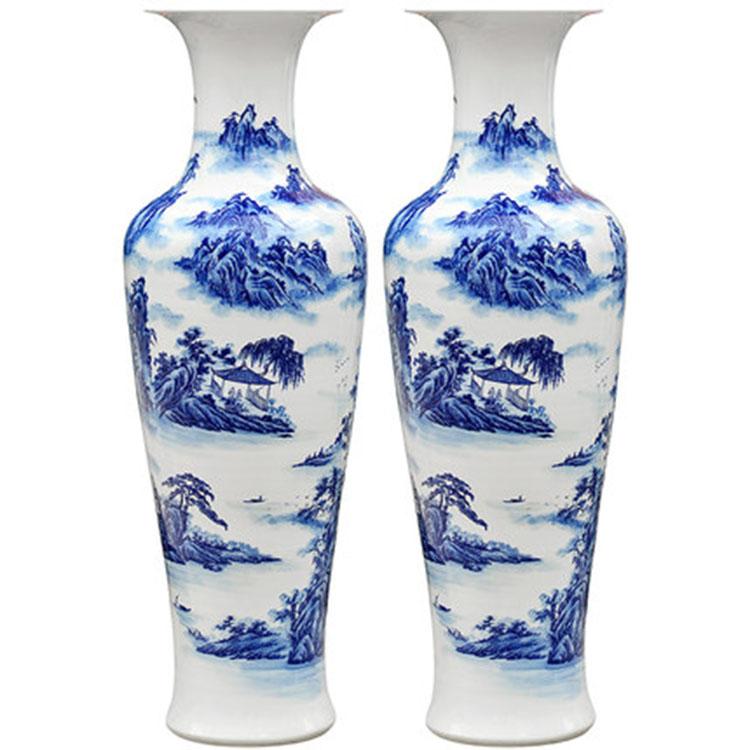 创意手绘落地大花瓶