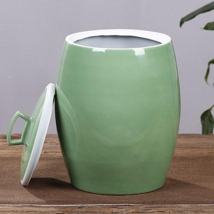 景德镇陶瓷米缸30斤50斤100斤米桶带盖密封家用储物罐水缸