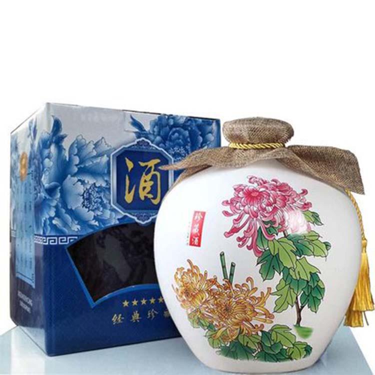 景德镇青花陶瓷酒坛
