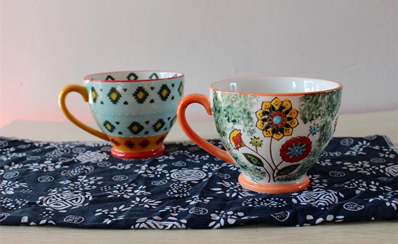 手绘花卉陶瓷碗