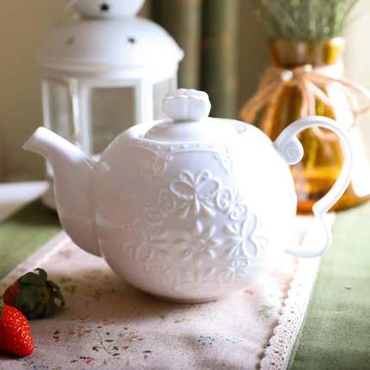 大号陶瓷器咖啡壶凉水壶泡茶壶欧式下午茶茶壶宫廷奶茶壶家用