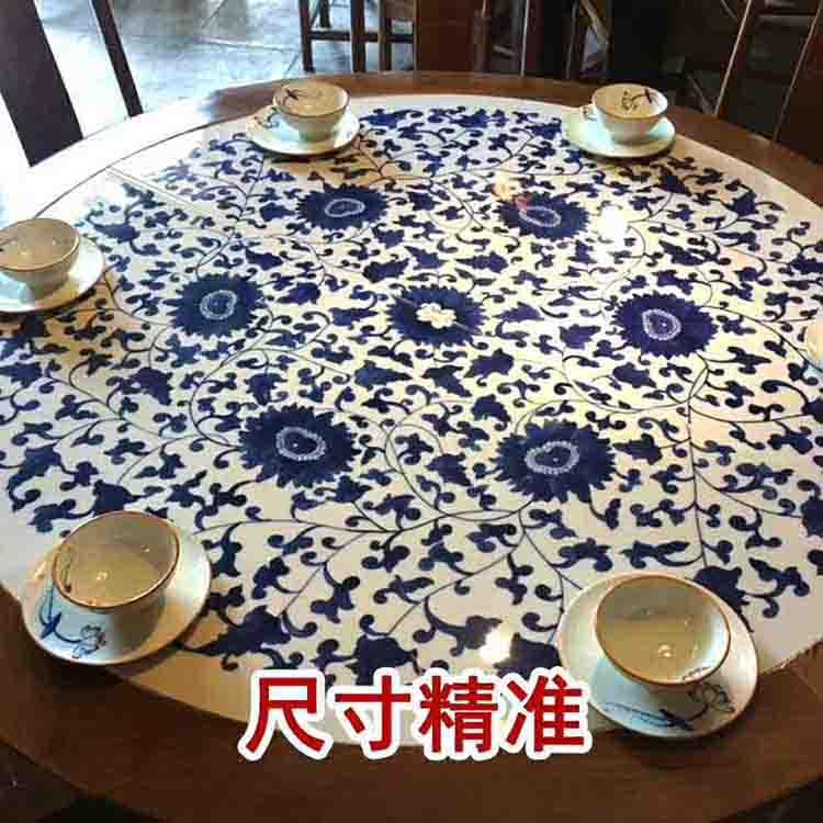 景德镇陶瓷餐桌影青釉青花山水陶瓷桌面套装户外陶瓷